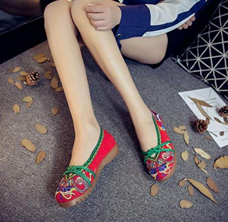 Moontang Flat scarpe Scarpe Ricamate, Suola a Tendine, Stile Etnico, Scarpe di Stoffa Femminili, Moda, comode, Casual... | Prezzo Affare  | Gentiluomo/Signora Scarpa