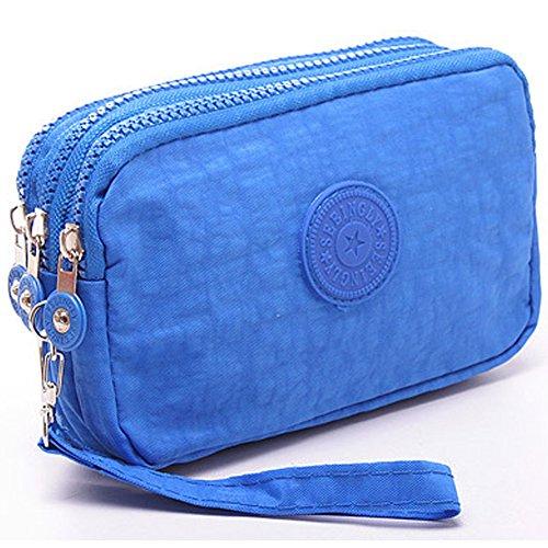 liangdongshop Handtasche/Clutch-Tasche aus Nylon, mehrschichtig, hellblau Ipod-phone 3g