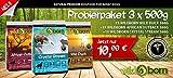 WILDBORN getreidefreies Hundefutter Probierpaket TASTE - 3 x 500g für erwachsene Hunde zum Testpreis inkl. Überraschungsgeschenk