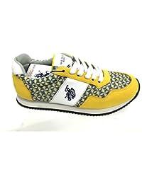 U.S. Polo ASSN. - Zapatos - zapatillas de deporte bajo la tela de los pantalones vaqueros, American All Star Unisex - NOBIW4197S6-MH1