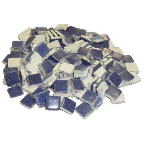 229302810x 10x 3mm 70g 150-tlg. Keramik glasiert Mosaik Fliesen, blau