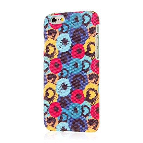 iPhone 6/iPhone 6S-Aqua Poppy Pois, signature Series Coque fine pour Apple iPhone 6/iPhone 6S