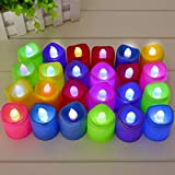 Raaya New Decorative LED Tea Candles For Seasonal And Festival Celebration For Home Decor, Multicolored, 25 Grams, Pack Of 1