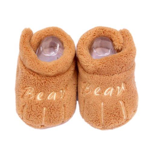 Eozy 1 Paar Weich Warm Hoch Qualität Süß 11cm Kleine-Tatzen Babyshuhe Fleece Winter für 0-12 Monaten Alter Babys #1 Braun