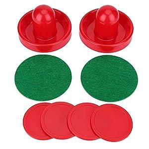 Air Hockey Pushers, Kunststoff Leichte Goalies Eishockey Pusher Hockey Pucks Set Ersatz für Tabellen Spiel