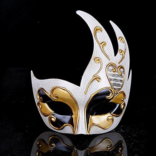 Maschera di modellazione della fiamma di venezia crepa maschera da donna maschera di carnevale di festa festa spettacolo (oro)