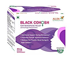 Allen Nutraceuticals BLACK COHOSH For Menopause Relief (50 Capsules) (Pack of 2)