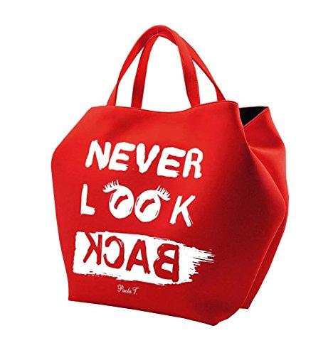 PAOLA T. - Borsa Neoprene Never Look Back Rosso