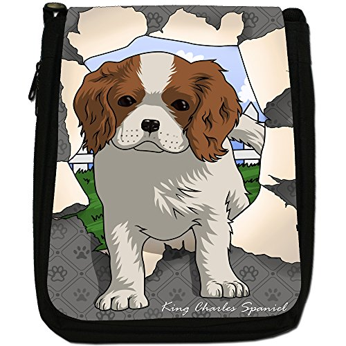 Spezzare cani medium nero borsa in tela, taglia M Spaniel Breaking Through