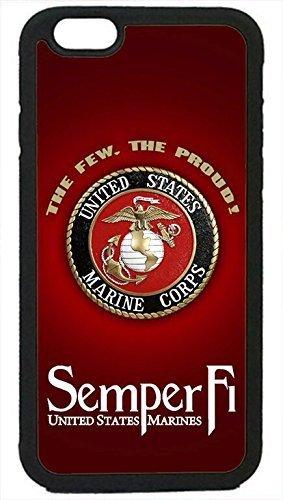 Die Force Series-Sleek, Umwerfend und Einzigartiges-USMC Marines Semper Fi Marine Corps Logo rubbersilicone Schwarz Schutzhülle für iPhone 6Plus/6S Plus (5.5in), von Zelle Welt LLC- TM (Minion Hockey)