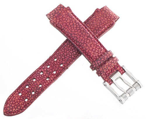 aquanautic Herren 's Dark Rot Alligator Leder Uhrenarmband mit Stahl Schnalle 13mm