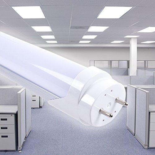 Eurostar Neonröhre LED SMD 120cm matt mit T8-Anschluss25W = 200W Neon traditionell, 2500Lumen High Power Lange Lebensdauer batteriebetrieben 220V kein Starter und Vorschaltgerät notwendig 4000°k Luce Naturale
