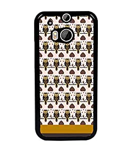 PrintDhaba Owl pattern D-1838 Back Case Cover for HTC ONE M8s (Multi-Coloured)