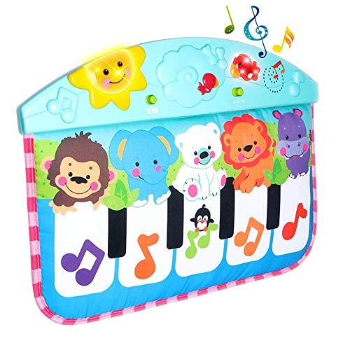 Unbekannt PER Multifunktionale Baby Fuß Klavier Aktivität Gym Spielmatte Musical Spielzeug für Neugeborene 42,5 × 31,5 cm (Spiel Klavier Ein)