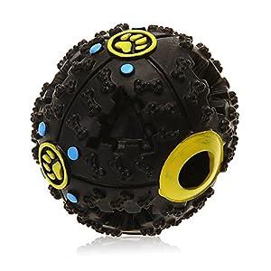 SODIAL(R) Balle Boule Sonore Distributeur Croquette Nourriture Jouet pour Chien Animaux