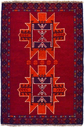 Cristina carpets tappeto afgano beluci 87x130 geometrico stilizzato annodato a mano vello e trama lana
