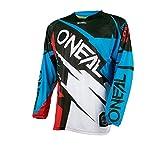 O 'Neal Hardwear MX Jersey Flow Jag Azul Rojo Camiseta Motocross Enduro Cross Moto, 0032h de 40, color rojo y azul, tamaño large