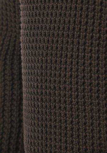 BLEND Wesley Herren Strickpullover Hoodie Grobstrick Pulli mit Kapuze aus 100% Baumwolle Mocca Mix (70816)