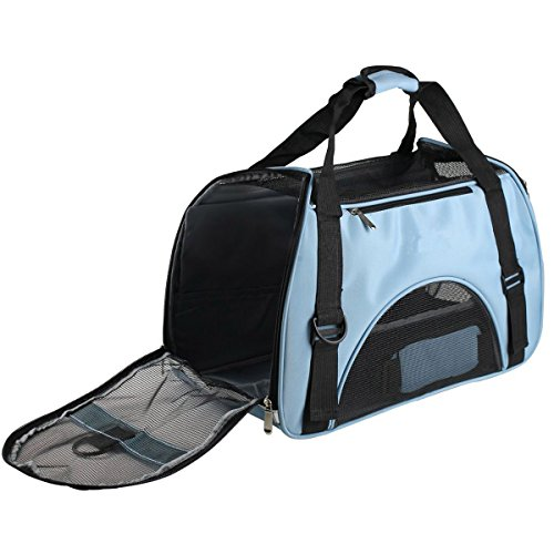 Transportín para animales domésticos, ventilacion bolso de Mascota, bolso a bandolera ergonómico...