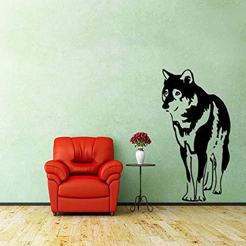 Haustier hund husky vinyl wandtattoo tier wohnkultur wohnzimmer schlafzimmer tapete entfernbare...