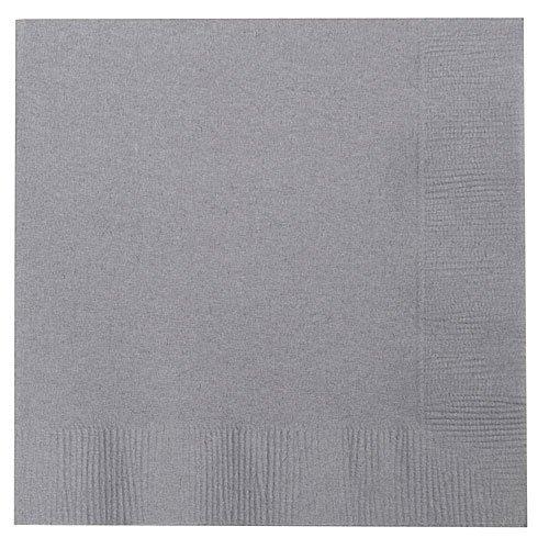 Thali Outlet Leeds Tischdeckchen - 125 x Grau, 2-lagig, 33 cm, 4-fach faltbar, Tissue Servietten Papierservietten, für Geburtstage, Hochzeiten, Partys, alle Anlässe