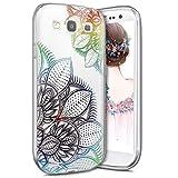 Coque Galaxy S3,Coque Galaxy S3 Étui Silicone Transparente,Surakey [Ultra Mince] Souple TPU Housse Étui Protection TPU Bumper Silicone Etui pour Samsung Galaxy S3, Fleur de rêve