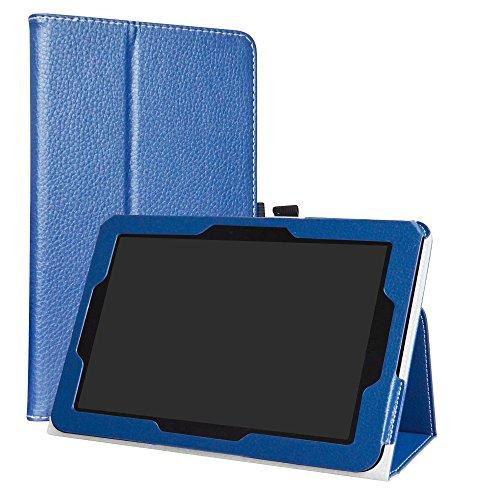 liushan PU Leder Slim Faltbar Stand Cover für 25,7cm Verizon Ellipsis 10Android Tablet Transparent Dunkelblau (Verizon 7-zoll-tablet-fall)