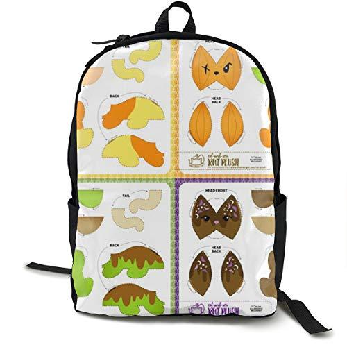 Cut U0026 Sew Rat Plush Bundle Halloween Candy Adult Premium Travel Backpack, Water-Resistant College School Bookbag, Sport Daypack, Outdoor Rucksack, Laptop Bag for Men&Women (Halloween Bug Candy)