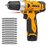 Best Cordless Screwdrivers - Ingco Heavy Duty Cordless Screw Driver With 10Pcs Review