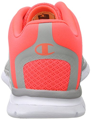 Champion Alpha, Chaussures de Running Compétition Femme Multicolore (Pink/gry - Grau Melange/pink Lady)