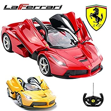 Official Licensed CM 2143 1:14 Ferrari LaFerrari Radio Controlled RC  Electric Car With Opening Doors   Ready To Run EP RTR (RED): Amazon.co.uk:  Toys U0026 Games Idea