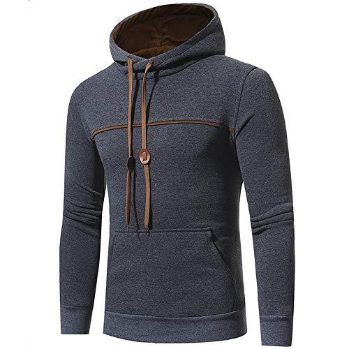 DAXIAL Sweatshirt Hoodie Men's Farbe Zip Jacke Langarm Herren Hoodie Sweatshirt Langarm Tops, XXXXL -