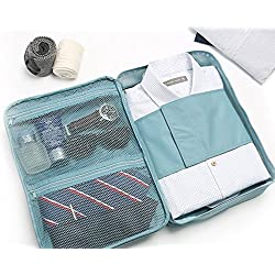 istore Multi-functional Travel Slim Shirt Tie Pouch Organizer,luggage Clothes Packing Bag Handbag Case for Men-Multi Color