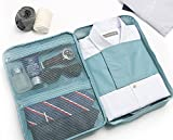 #10: istore Multi-functional Travel Slim Shirt Tie Pouch Organizer,luggage Clothes Packing Bag Handbag Case for Men-Multi Color