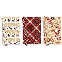 The Big Card Company Christmas Roll Wrap Tartan Tradizionale Design 3x 5m
