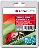 AgfaPhoto APCBCI6SETD Tinte für Canon BJC8200 mit Chip, 27 ml schwarz und 52 ml cyan/magenta/gelb/schwarz