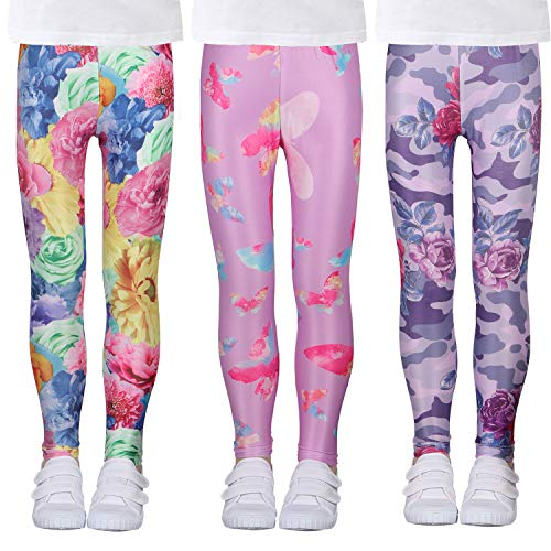 LUOUSE Kids Stretch Leggings Tig...