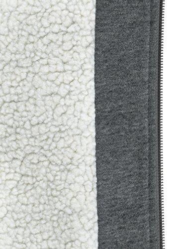 BLEND Ted Herren Sweatjacke Kapuzen-Jacke Zip-Hoodie mit Teddy-Futter aus hochwertiger Baumwollmischung, Größe:M, Farbe:Pewter Mix (70817) - 6