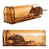 Signstek Confezione da 2 Trappola di topi umani in plastica con foro d'aria, dispositivo di trappola Smart Small Mouse...
