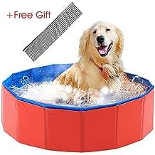 Asbyfr - Bañera y piscina plegable de PVC para perros y gatos pequeños ...