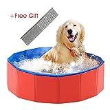 Asbyfr - Bañera y piscina plegable de PVC para perros y gatos pequeños y medianos