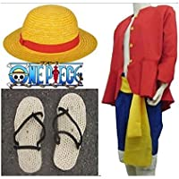 L size two years later Cosplay Costume clothes straw hat of one piece ONE  PIECE Luffy f74ec5b7ef8