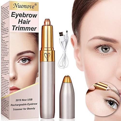 Depiladora Cejas Mujer, Eléctrica Depiladora Facial Mujer, Eyebrow Trimmer, Recortador de Vello Nariz/Orejas...