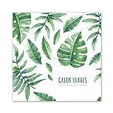 KaiDeng Grüne Blätter Leinwand Gemälde Moderne Hübsche Zeichnungen Für Schlafzimmer Küche Büro Esszimmer Und Dekoration