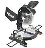 FERM MSM1037 Mitre Saw - Single bevel mitre saw - Crosscut mitre saw - 1300W - Ø210mm - Aluminium base plate - Laser - Incl. Quality 48T Saw Blade and dust collection bag | CRAFTER |