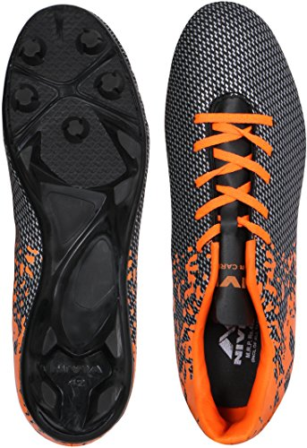 Nivia Premier Carbonite Range Football Studs 11UK(Black/Orange)