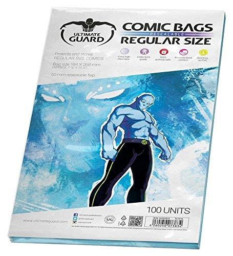 Ultimate Guard UGD020019 - Comic Bags, wiederverschließbar, Regular Size, 100 Stück