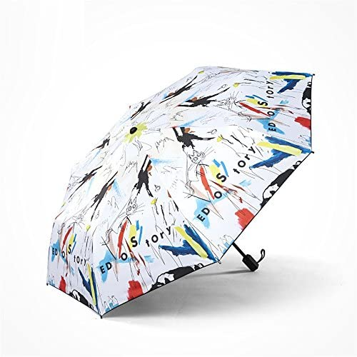 Graffiti moda individualità anti-UV antivento impermeabile parasole parasole parasole ombrellone viaggio Portable ombrello regali creativi,B Five-Folded | Ottima qualità  | Prezzo economico  7d9d82