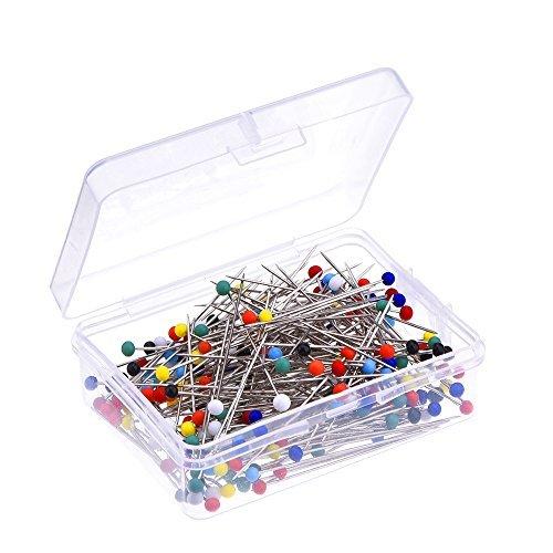 250 Stück Gemischte Farben Glaskopf Pins Näherei Pins Stecknadeln