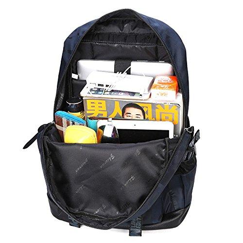 Rucksack Laptop Rucksack Schulbeutel für Notebook Computer, Business, Reisen, Arbeit (Schwarz) Lila